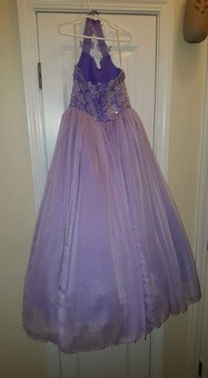 Beautiful purple beaded gown